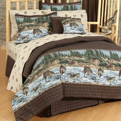 River Fishing Comforter Set Size: Twin