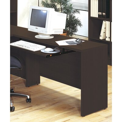 600 Series 29.5 H x 47.25 W Reversible Desk Return Finish: Coffee