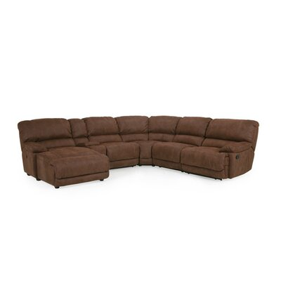 Rankin Reclining Sectional Orientation: Left Hand Facing, Upholstery: Driftwood