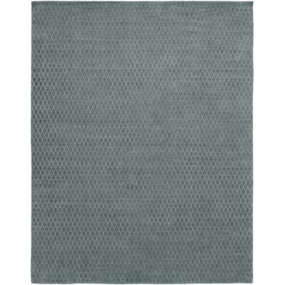 Hand-Woven Gray Area Rug Rug Size: Runner 26 x 10