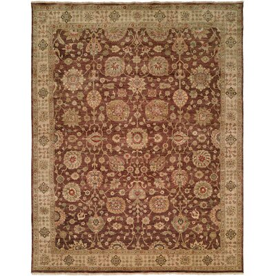 Bashir Hand-Knotted Brown / Ivory Area Rug Rug Size: 4' x 6'