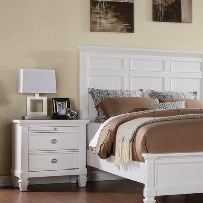 Lillias 2 Drawer Nightstand