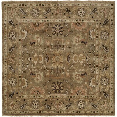 Eritrea Hand-Knotted Brown Area Rug Rug Size: Square 6