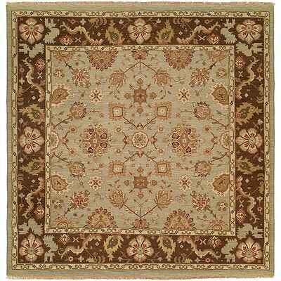 Valparaiso Hand-Woven Beige/Brown Area Rug Rug Size: Square 8