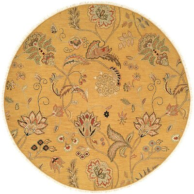 Yanbu Hand-Woven Beige Area Rug Rug Size: Round 8