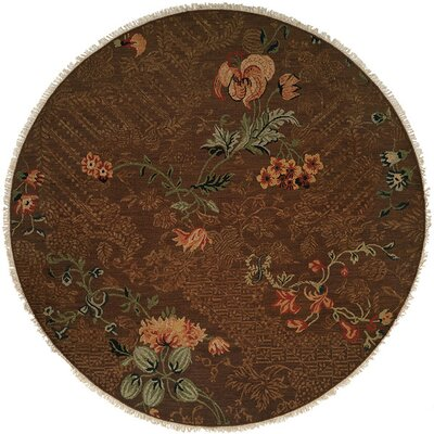 Tabaco Hand-Woven Brown Area Rug Rug Size: Round 8
