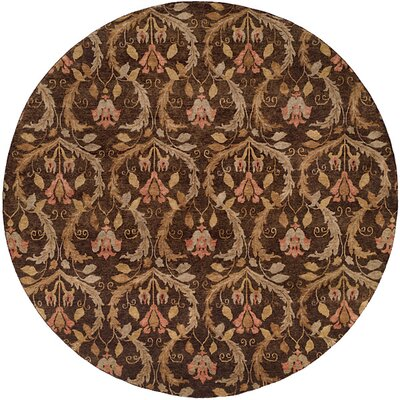 Corinto Hand-Knotted Brown Area Rug Rug Size: Square 8