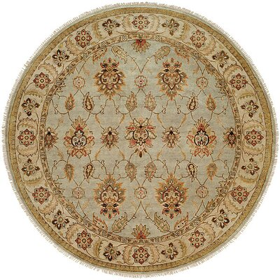 Lyttelton Hand-Knotted Blue/Brown Area Rug Rug Size: Round 10