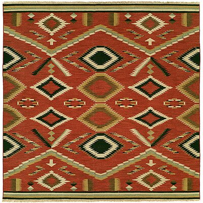 Coquimbo Hand-Woven Red Area Rug Rug Size: Square 10