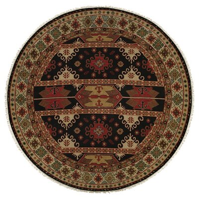 Tacoma Red/Beige Area Rug Rug Size: Round 6