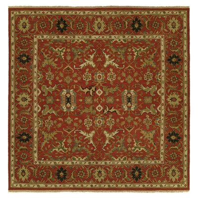 Yokohama Hand-Woven Red/Beige Area Rug Rug Size: Square 8