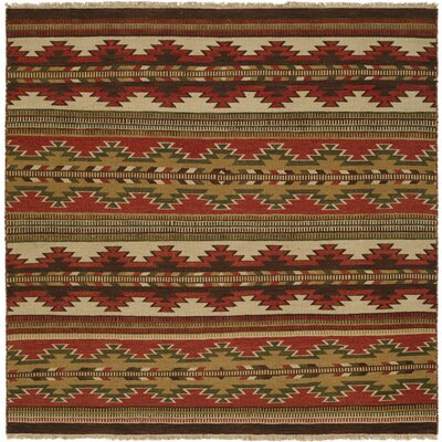 Hangu Red/Beige Area Rug Rug Size: Square 6