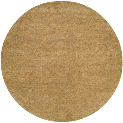 Hurghada Hand-Knotted Beige Area Rug Rug Size: Round 8