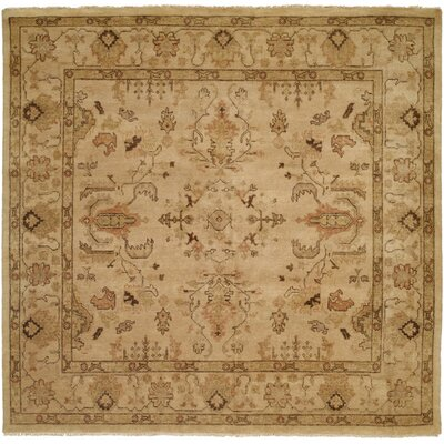 Puntarenas Hand-Knotted Beige Area Rug Rug Size: Square 6