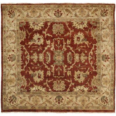 Pichilingue Hand-Knotted Rust/Ivory Area Rug Rug Size: Square 10