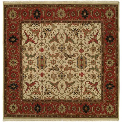 Peru Hand-Woven Ivory/Brown Area Rug Rug Size: Square 10