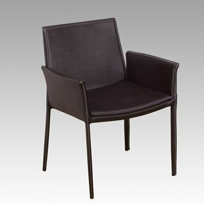 Arm Chair Color: Brown