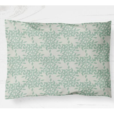 Palmyra Lightweight Pillow Sham Size: Standard, Color: Green