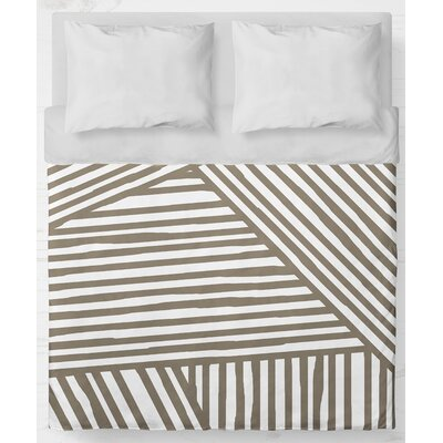 Orion Lightweight Duvet Cover Color: Brown, Size: Queen