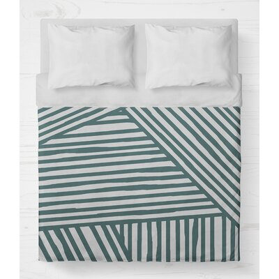Orion Lightweight Duvet Cover Size: Queen, Color: Teal