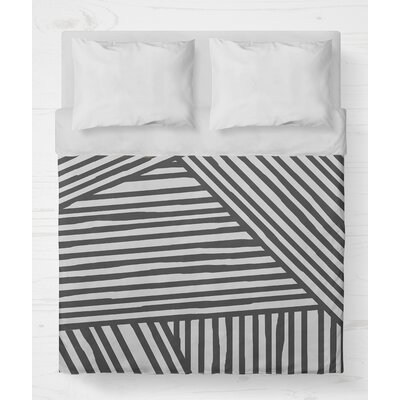 Orion Lightweight Duvet Cover Size: Queen, Color: Gray