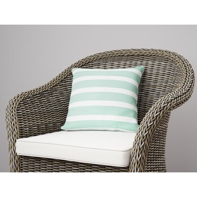 Saybrook Throw Pillow Color: Green, Size: 18 H x 18 W