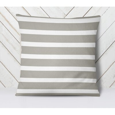 Saybrook Throw Pillow Size: 18 H x 18 W, Color: Smoke