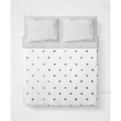 Victoire Lightweight Duvet Cover Size: King, Color: Purple