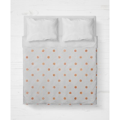 Victoire Lightweight Duvet Cover Size: Twin, Color: Orange