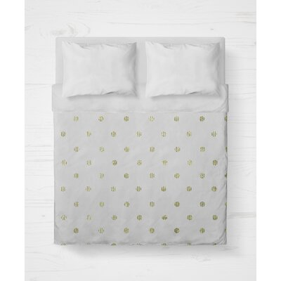 Victoire Lightweight Duvet Cover Size: King, Color: Green