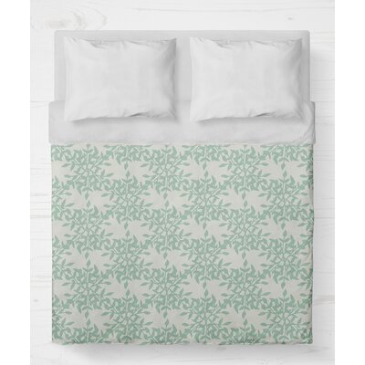 Palmyra Lightweight Duvet Cover Size: King, Color: Green