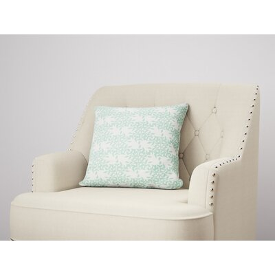 Palmyra Throw Pillow Size: 22 H x 22 W, Color: Green