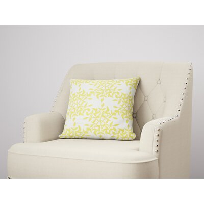 Palmyra Throw Pillow Size: 16 H x 16 W, Color: Yellow