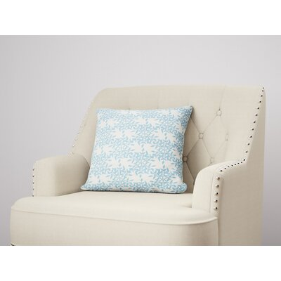 Palmyra Throw Pillow Size: 22 H x 22 W, Color: Blue
