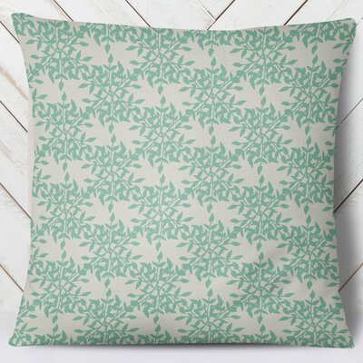 Palmyra Throw Pillow Size: 16 H x 16 W, Color: Green