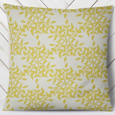 Palmyra Throw Pillow Size: 26 H x 26 W, Color: Yellow