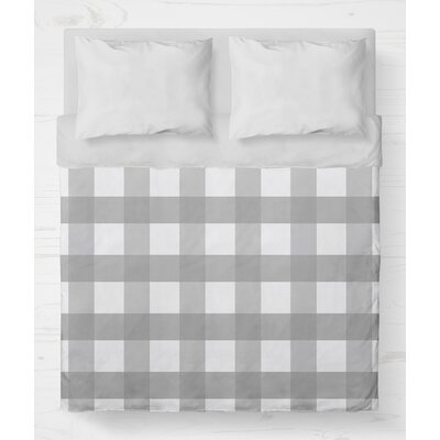 Ophelie Lightweight Duvet Cover Size: King, Color: Gray
