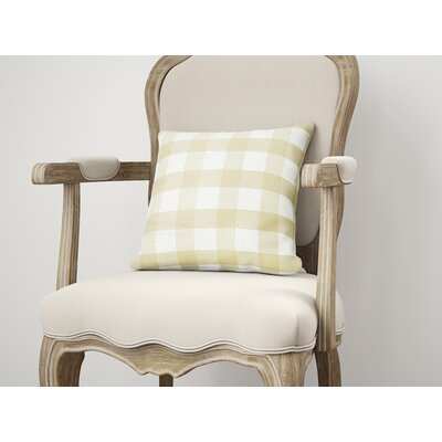 Ophelie Throw Pillow Size: 18 H x 18 W, Color: Yellow