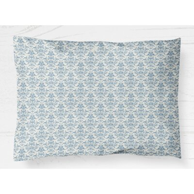 Diana Pillow Case Size: 20 H x 40 W, Color: Blue