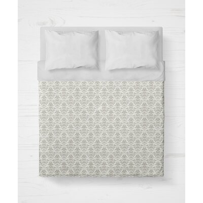 Diana Lightweight Duvet Cover Color: Gray, Size: King