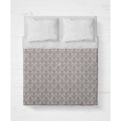 Diana Lightweight Duvet Cover Size: King, Color: Plum