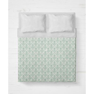 Diana Lightweight Duvet Cover Size: Queen, Color: Green