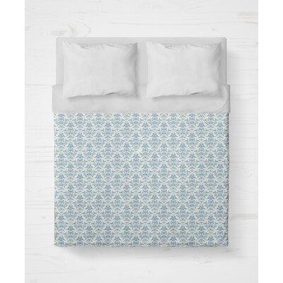 Diana Lightweight Duvet Cover Size: King, Color: Blue
