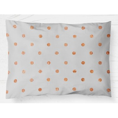 Victoire Lightweight Pillow Sham Size: Standard, Color: Orange