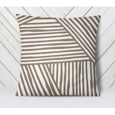 Orion Throw Pillow Color: Brown, Size: 18 H x 18 W