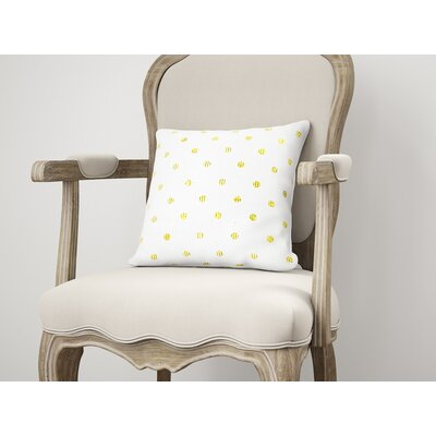 Victoire Throw Pillow Color: Yellow, Size: 18 H x 18 W