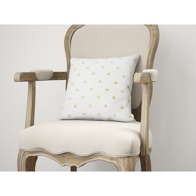 Victoire Throw Pillow Size: 24 H x 24 W, Color: Green