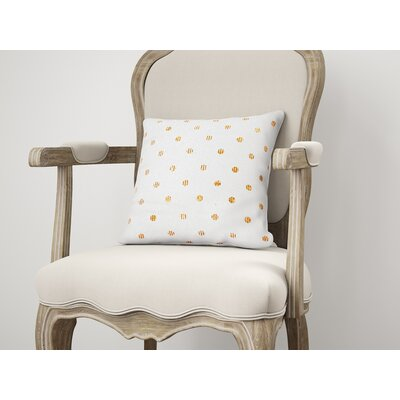 Victoire Throw Pillow Size: 18 H x 18 W, Color: Orange