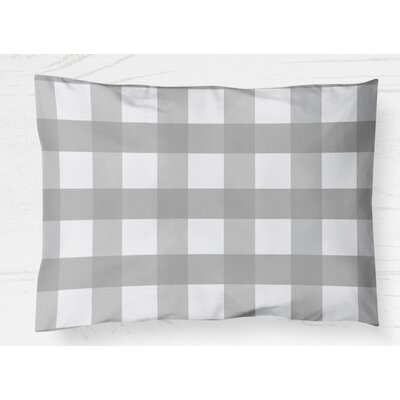 Ophelie Lightweight Pillow Sham Size: King, Color: Gray
