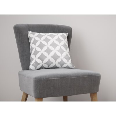 Persephone Throw Pillow Size: 26 H x 26 W, Color: Gray